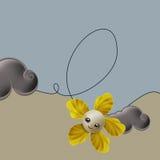 Λουλούδι και στρόβιλος Στοκ Εικόνες