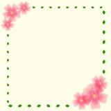 Λουλούδι και φύλλα Στοκ εικόνα με δικαίωμα ελεύθερης χρήσης
