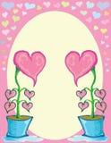 Λουλούδι καρδιών στο δοχείο Στοκ φωτογραφίες με δικαίωμα ελεύθερης χρήσης
