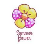 Λουλούδι κινούμενων σχεδίων απεικόνιση αποθεμάτων