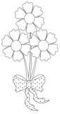 Λουλούδι με μια κορδέλλα διανυσματική απεικόνιση