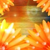 Λουλούδι με τη δροσιά στο ξύλο συν EPS10 Στοκ Εικόνα