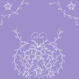 Λουλούδι με τις καρδιές Στοκ Φωτογραφίες