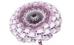 Λουλούδι που γίνεται από τα ευρο- τραπεζογραμμάτια ελεύθερη απεικόνιση δικαιώματος