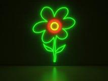 Λουλούδι - σημάδια νέου σειράς Στοκ Εικόνες