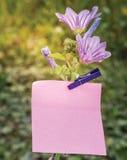 Λουλούδι σημειώσεων Στοκ φωτογραφίες με δικαίωμα ελεύθερης χρήσης