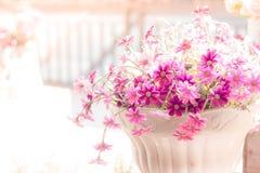 Λουλούδι στην κρητιδογραφία στοκ φωτογραφία
