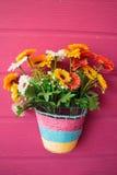 Λουλούδι στον τοίχο Στοκ εικόνα με δικαίωμα ελεύθερης χρήσης