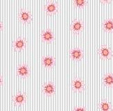 Λουλούδι στο άνευ ραφής σχέδιο λωρίδων Απεικόνιση αποθεμάτων