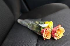 Λουλούδι στο κάθισμα αυτοκινήτων Στοκ Φωτογραφία
