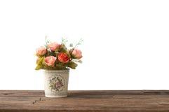 Λουλούδι στο ξύλινο υπόβαθρο πινάκων, ρομαντικό Στοκ φωτογραφία με δικαίωμα ελεύθερης χρήσης