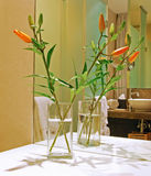 Λουλούδι στο φανταχτερό λουτρό Στοκ Εικόνα