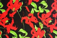 Λουλούδι σχεδίων στο ύφασμα υφασμάτων για την επιχείρηση Στοκ Εικόνες