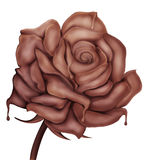 Λουλούδι - το σύμβολο αγάπης γλυκιάς σοκολάτας αυξήθηκε διανυσματική απεικόνιση