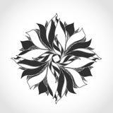 Λουλούδι φαντασίας, γραπτό σχέδιο δερματοστιξιών Στοκ εικόνα με δικαίωμα ελεύθερης χρήσης