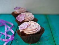 Λουλούδι cupcakes Στοκ Εικόνα