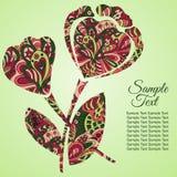 Λουλούδι Doodle Στοκ φωτογραφία με δικαίωμα ελεύθερης χρήσης
