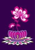 Λουλούδι Lotus διανυσματική απεικόνιση