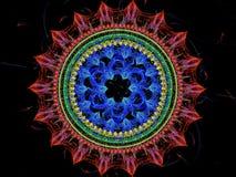 Λουλούδι Mandala - αφηρημένη ψηφιακά παραγμένη εικόνα Στοκ εικόνα με δικαίωμα ελεύθερης χρήσης