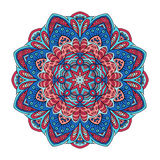 Λουλούδι Mandala zentangl Σχέδιο Doodle διακόσμηση γύρω από το διάν&upsil Στοκ Εικόνες
