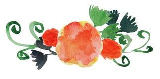 Λουλούδι 2 Watercolor Στοκ Φωτογραφίες