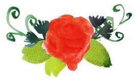 Λουλούδι 4 Watercolor Στοκ εικόνα με δικαίωμα ελεύθερης χρήσης