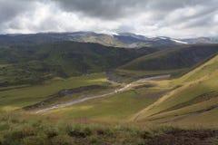 Λοφώδης έκταση των βουνών στοκ φωτογραφία