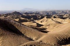 Λοφώδης έρημος στην κεντρική Ναμίμπια στοκ φωτογραφία