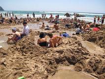 Παραλία ζεστού νερού, Νέα Ζηλανδία Στοκ εικόνα με δικαίωμα ελεύθερης χρήσης