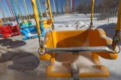Λούνα παρκ το χειμώνα Στοκ Εικόνες