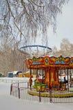 Λούνα παρκ το χειμώνα Στοκ εικόνες με δικαίωμα ελεύθερης χρήσης