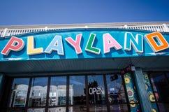Λούνα παρκ Arcade Playland Στοκ εικόνες με δικαίωμα ελεύθερης χρήσης