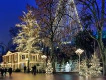 Λούνα παρκ Liseberg με τη διακόσμηση Χριστουγέννων στο Γκέτεμπουργκ, Σουηδία Στοκ Εικόνα