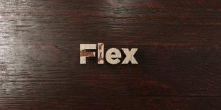 Λυγίστε - βρώμικος ξύλινος τίτλος στο σφένδαμνο - το τρισδιάστατο δικαίωμα ελεύθερη εικόνα αποθεμάτων απεικόνιση αποθεμάτων