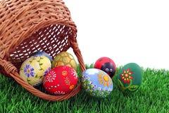 λυγαριά αυγών Πάσχας καλ&a Στοκ Εικόνες