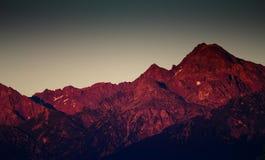 λυκόφως βουνών Στοκ φωτογραφίες με δικαίωμα ελεύθερης χρήσης