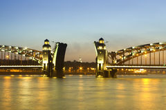 λυκόφως γεφυρών Στοκ Εικόνα