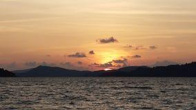 Λυκόφως και ηλιοβασίλεμα Στοκ Φωτογραφίες