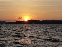 Λυκόφως και ηλιοβασίλεμα Στοκ Φωτογραφία