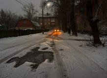 Λυκόφως και χιόνι Στοκ φωτογραφίες με δικαίωμα ελεύθερης χρήσης