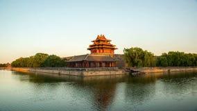 Λυκόφως στον πυργίσκο της απαγορευμένης πόλης, Πεκίνο, Κίνα φιλμ μικρού μήκους