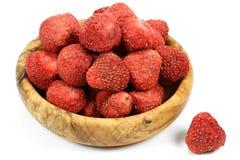 Λυοφιλοποιημένες φράουλες στοκ εικόνα με δικαίωμα ελεύθερης χρήσης