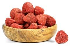 Λυοφιλοποιημένες φράουλες Στοκ Εικόνες