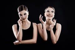 Λυπημένα και αστεία mimes στοκ εικόνες με δικαίωμα ελεύθερης χρήσης