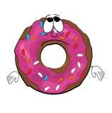 Λυπημένα doughnut κινούμενα σχέδια Στοκ Φωτογραφίες