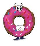 Λυπημένα doughnut κινούμενα σχέδια Στοκ εικόνα με δικαίωμα ελεύθερης χρήσης