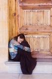 λυπημένη γυναίκα πορτρέτο&up Στοκ Φωτογραφίες