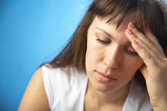 λυπημένη γυναίκα Στοκ Φωτογραφία