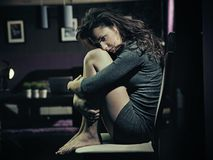 λυπημένη γυναίκα Στοκ εικόνες με δικαίωμα ελεύθερης χρήσης
