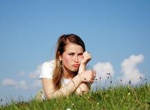 λυπημένη γυναίκα Στοκ Εικόνα